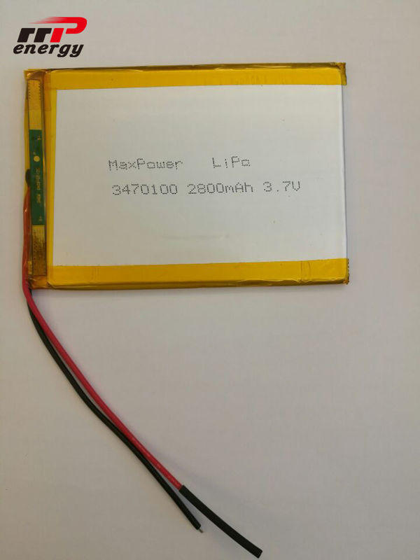2800mAh Capacity Lithium Polymer Battery 3470100 3.7V Laptop Notebook Application