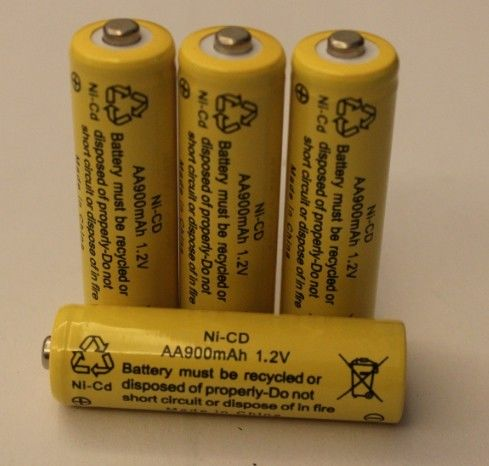 1.2V Cylindrical NICD Battery Packs AA900mAh UL CE