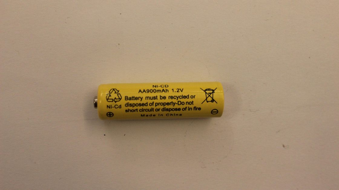1.2V AA900mAh NiCD Rechargeable Flashlight Battery , Rechargeable Torch Battery