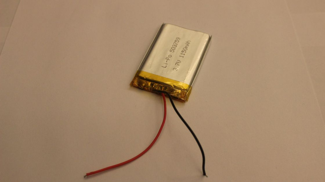 1150mAh 3.7V Lithium Polymer Battery IEC62133 For Walkie Talkie , PDA , MP4