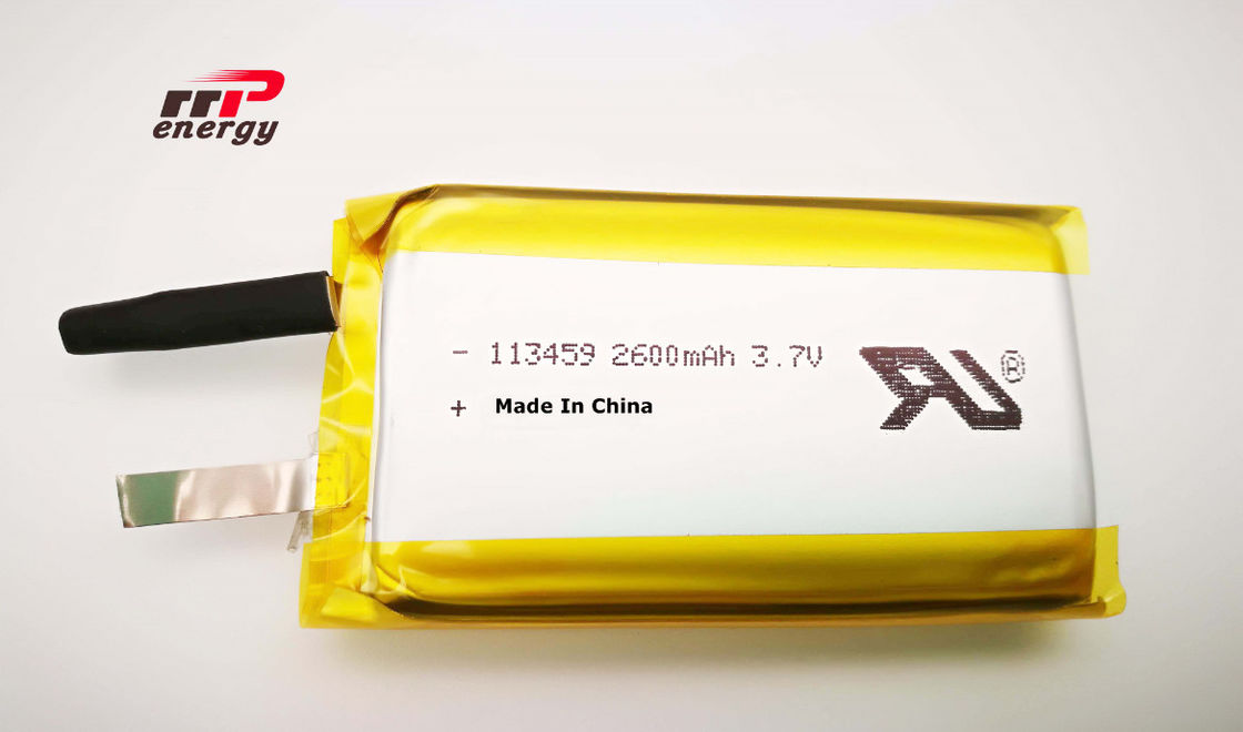 113459 2600mAh 3.7V Lithium Polymer Battery UL1642 Hand warmer Battery