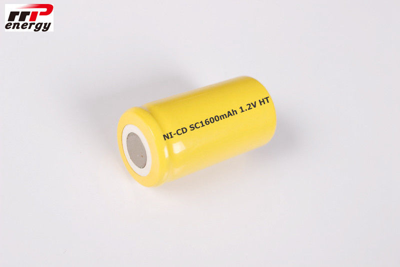 SC1600mAh 1.2V NiCd Rechargeable Batteries High Temperature Cell CE Approval