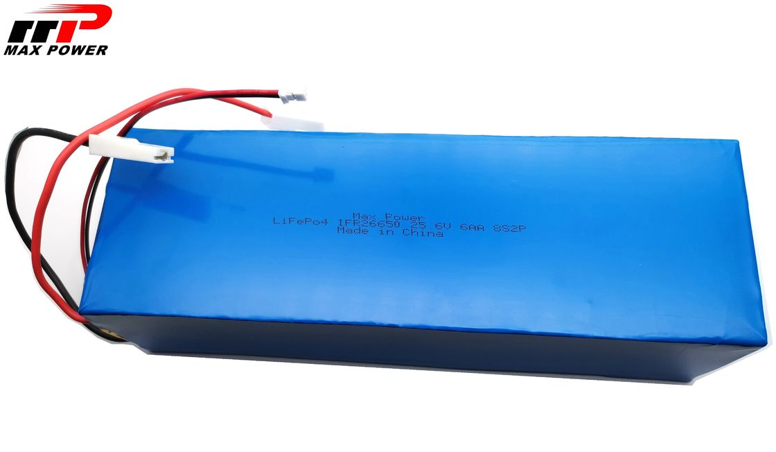 2000 cycles Solar Tracker Lithium Iron Phosphate LiFePO4 Battery IFR26650 25.6V 6Ah CB 5 Years Guarantee