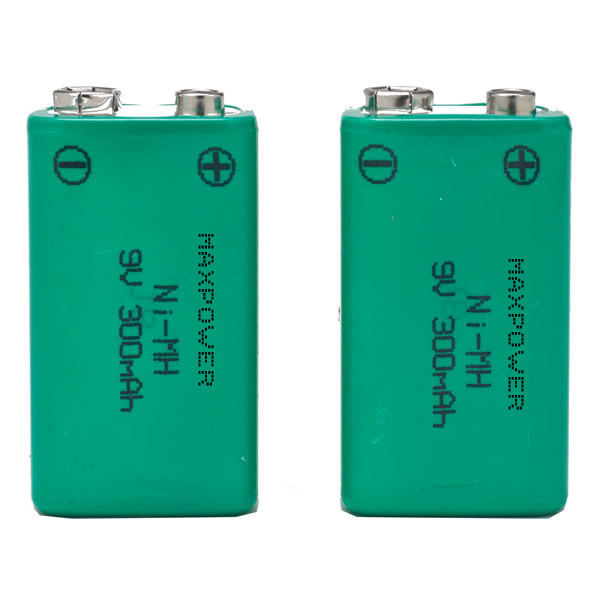 300mAh 9V Prismatic NiMh Battery Packs for Multimeter CE UL Rohs