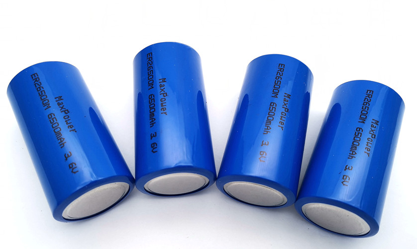 lithium thionyl chloride Lisocl2 ER26500M 6500mAh 3.6V high capacity long storage life no memory effect with KC CB UL